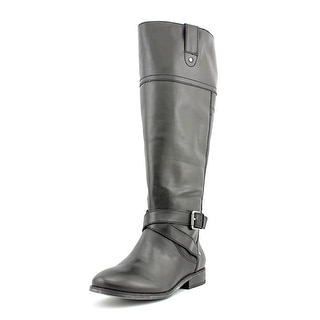 Marc Fisher Amber Wide Calf Women Round Toe Leather Knee High Boot