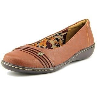 Soft Style by Hush Puppies Jordyn Women N/S Round Toe Leather Brown Flats