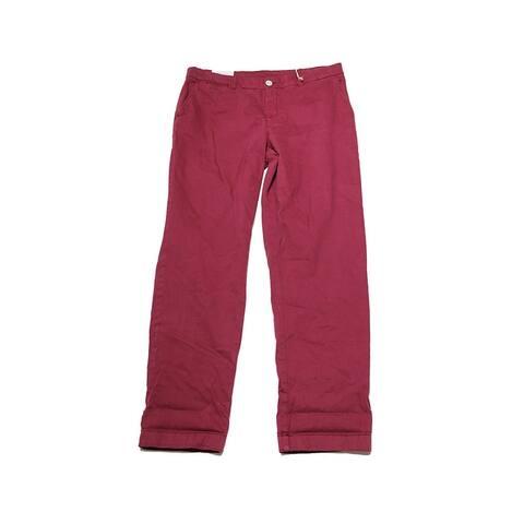 Style & Co Cuffed Raspberry Colored Boyfriend Pants 12