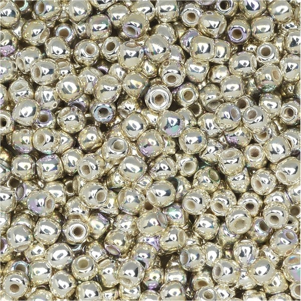 True2 Czech Glass, Round Druk Beads 2mm, 200 Pieces, Silver Plated AB