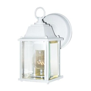 Woodbridge Lighting 60000-WHP 1 Light Wall Sconce from the Basic Outdoor Collection