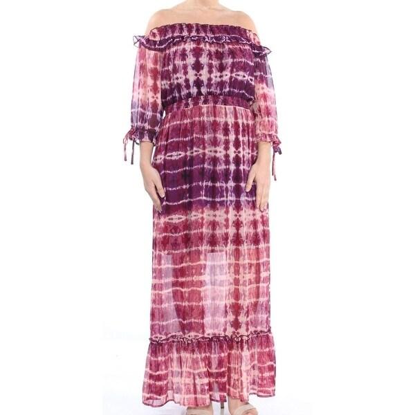 Jessica Simpson Purple Tie-Dye Dahlia Women Medium M Maxi Dress