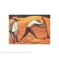 ''Peasants'' by Diego Rivera Museum Art Print (8 x 10 in.)