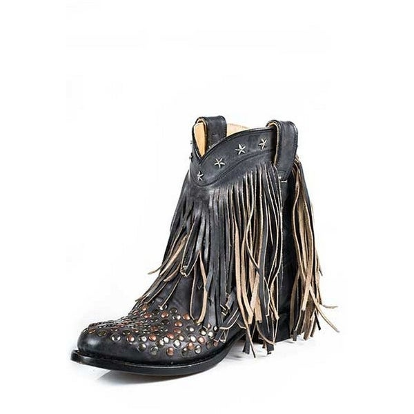 Stetson Western Boots Womens Lila Ankle Black