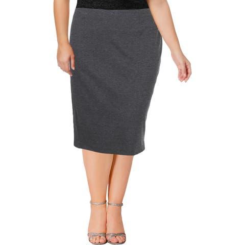 Kasper Womens Straight Skirt Knee-Length Office