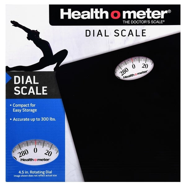 Health O Meter HAB700DQ105 Dial Personal Weight Scale, Black. Opens flyout.