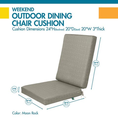 Duck Covers Weekend Water-Resistant Outdoor Dining Chair Cushions