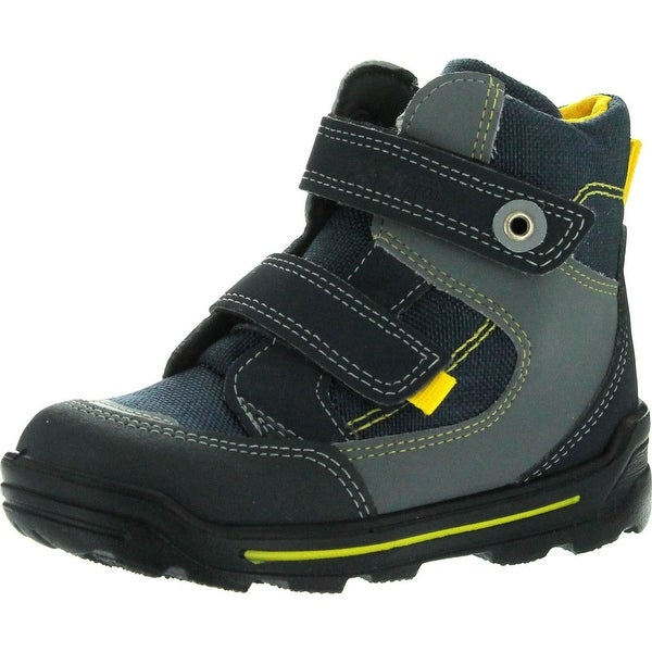 Ricosta Boys Friso Waterproof All Weather Boots - Navy/Yellow - 21 m eu / 5-5.5 m us toddler