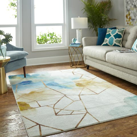"Mohawk Home Prismatic Illusion Area Rug - 3'9"" x 5'"