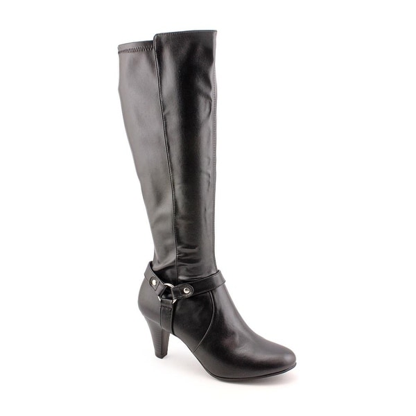 Karen Scott Henson Women Round Toe Synthetic Black Knee High Boot