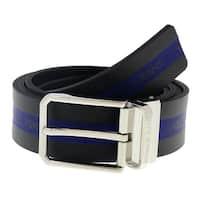 Versace  ED8YSBF09 EMA8 Black/ Blue  Mens Belt - 110
