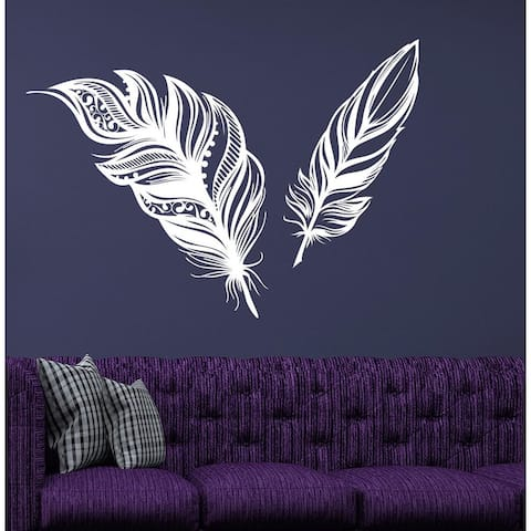 Feathers Boho Wall Decal