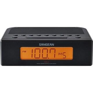 Sangean RCR-5BK Sangean RCR-5 Desktop Clock Radio - 0.6 W RMS - 2 x Alarm - FM, AM