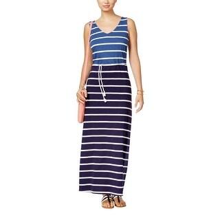 Shop Tommy Hilfiger Womens Maxi Dress Striped Tank Dress