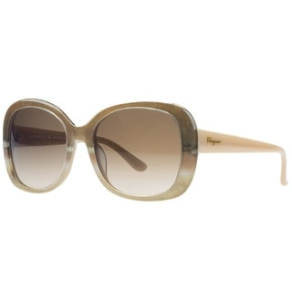 Salvatore Ferragamo SF678/S 269 Nude Beige Square Sunglasses