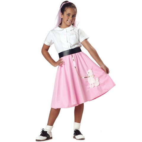 California Costumes Poodle Skirt Child Costume - Pink
