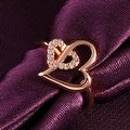 Rose Gold Hollow Double Hearts Ring - Thumbnail 2