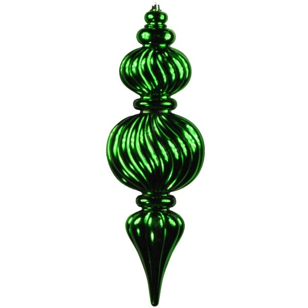 Christmas at Winterland WL-ORN-02-GR 2 Foot Green Space Saver Plastic Ridged Finial - N/A