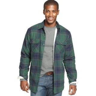 Men&39s Pendleton Lined Shirt Jacket Indigo Blue Plaid - Free