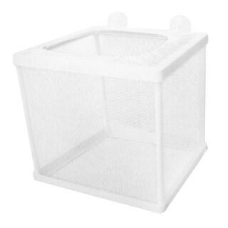 Unique Bargains Fish Tank Rectangular Plastic Frame Fry Hatchery White Net Breeder