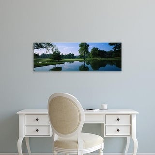 Easy Art Prints Panoramic Image 'Lake on a golf course, Cress Creek Country Club, Naperville, Illinois' Canvas Art