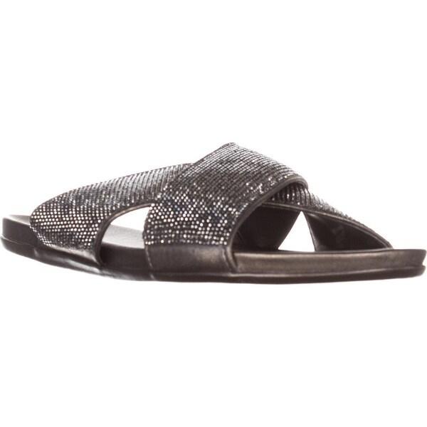 Kenneth Cole Reaction Slim Jam Studded Slide Sandals, Hematite