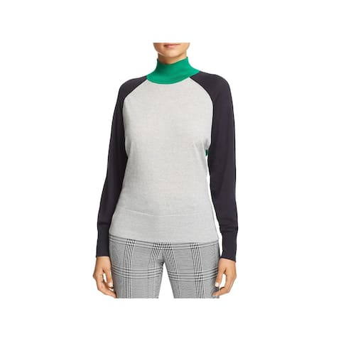BOSS Hugo Boss Womens Pullover Sweater Wool Ribbed Trim - XL