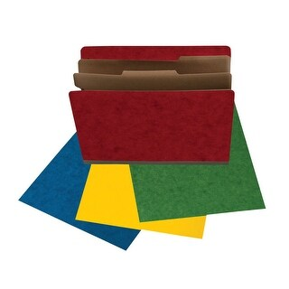Star Products Top Tab Classification Folder, 2 in Expansion, Legal Sized, Assorted Colors, Pack of 20