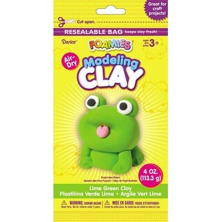 Lime Green - Foamies(R) Air-Dry Modeling Clay 4Oz