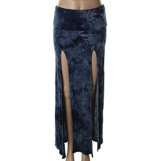 Surf Gypsy Womens Jersey Tie-Dye Maxi Skirt - S
