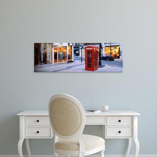Easy Art Prints Panoramic Images's 'Phone Booth, London, England, United Kingdom' Premium Canvas Art