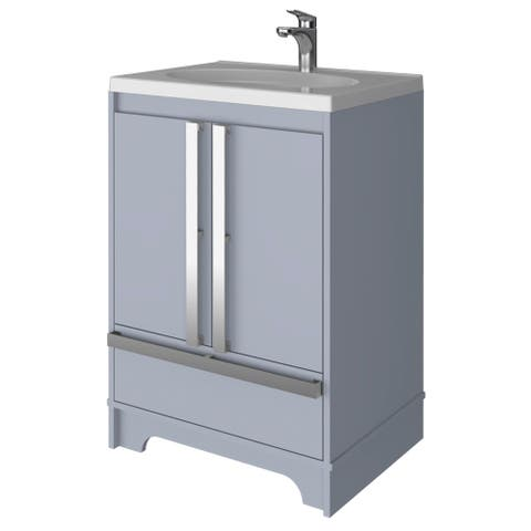 Tridell 23in Bathroom Vanity in Gray
