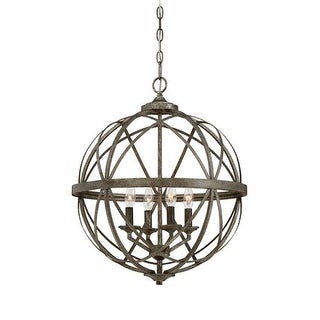 """Millennium Lighting 2284 Lakewood 4 Light 20"""" Wide Foyer Pendant with Cage Frame"""