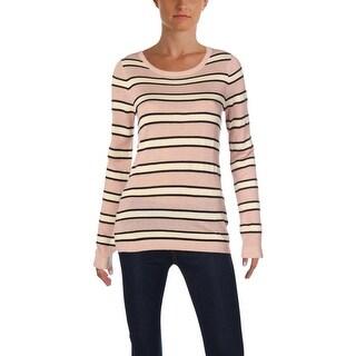 Scotch & Soda Womens Pullover Sweater Metallic Striped