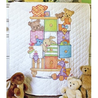 """Baby Hugs Baby Drawers Quilt Stamped Cross Stitch Kit-34""""X43"""""""