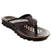 Aerosoft P2542BrownUS Men 8 Freddy Men Sandals, Brown - Size 8