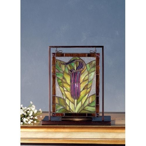 Meyda Tiffany 68552 Stained Glass Tiffany Window from the Jack-in-the-Pulpit Collection