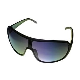Perry Ellis Mens Sunglass PE11 1 Black Plastic Shield, Smoke Gradient Lens