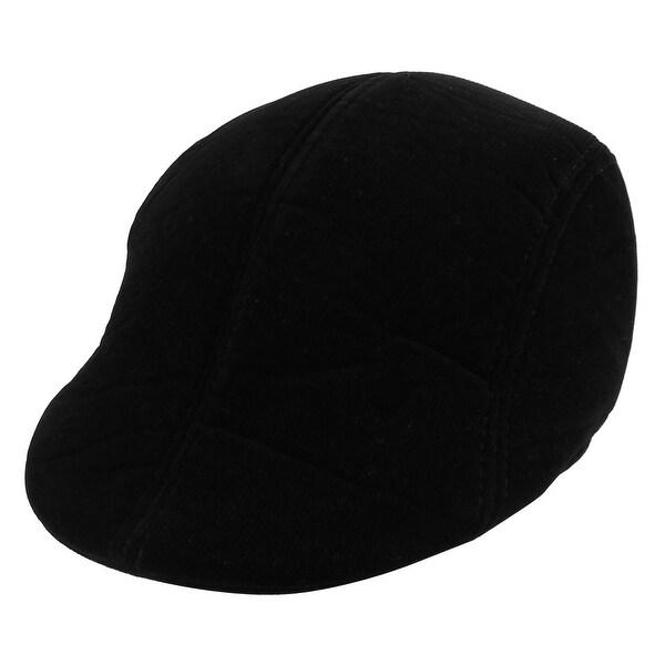 0e49a5d3c757c Women Men Corduroy Winter Newsboy Ivy Cap Cabbie Driving Flat Beret Hat  Black