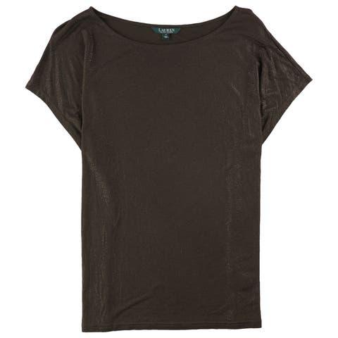 Ralph Lauren Womens Shimmer Basic T-Shirt