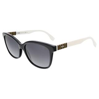 Fendi FF0054S 07TX Black/Penquin White Butterfly sunglasses - black/penquin white - 55-17-140