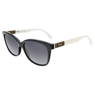 Fendi FF0054S 07TX Black/Penquin White Butterfly sunglasses - 55-17-140