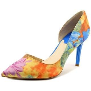 Marc Fisher Zanetti Women Pointed Toe Canvas Heels