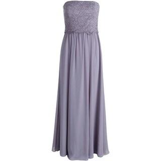 Lauren Ralph Lauren Womens Chiffon Strapless Evening Dress