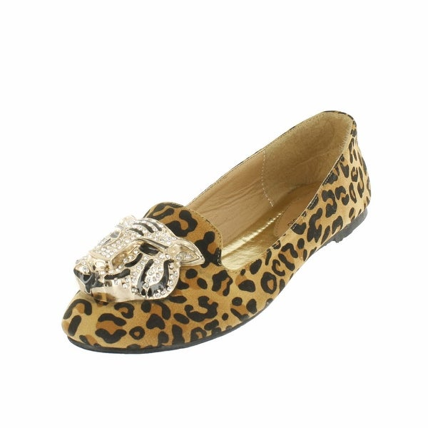 Red Circle Footwear 'Lionel' Loafer with Lion Ornament