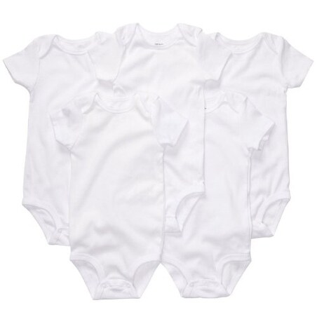 Carter's Unisex Baby Basic White 5 Pack Bodysuits 18 Months