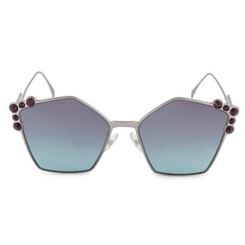 Fendi Can Eye FF 0261/S 6LB/JF 57 Geometric Sunglasses - 57mm x 18mm x 145mm