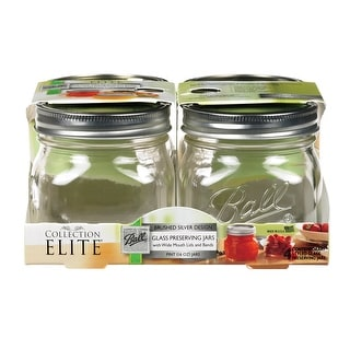 Ball Collection Elite 1440061180 Wide Mouth Jars, 16 Oz, Set of 4