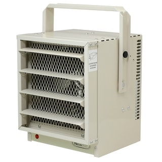 NewAir G73 Electric Garage Heater - Safe and Reliable Heat for 500 Sq Ft - ivory