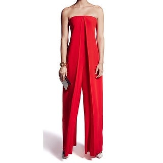 Cedric Charlier NEW Red Womens Size 4 French 34 Origami Jumpsuit Silk
